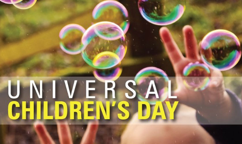 It's Universal Children's Day