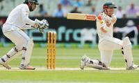 Australia 131-1 at tea after Pakistan declares at 443-9