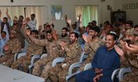 Army jawans celebrate Pakistan triumph