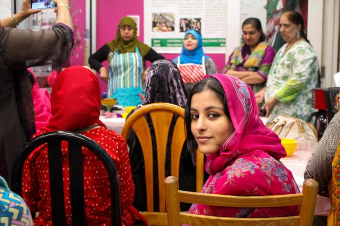 Ume Kulsoom's 14-year-old daughter Zeenat attends the class.