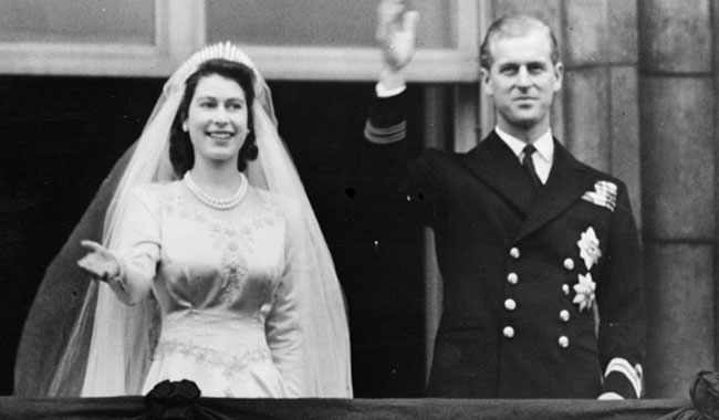Queen elizabeth and prince phillip celebrated their th wedding