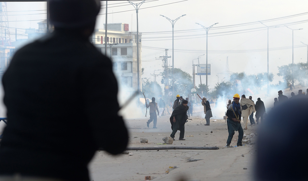 Pakistan capital tense as military silent on protests