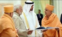 Modi launches project of first Hindu temple in UAE