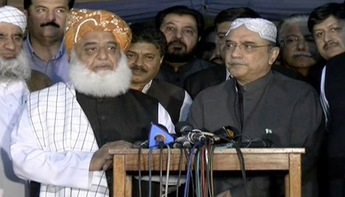 Shoe thrown at former Pakistan PM Nawaz Sharif at madrasa in Lahore
