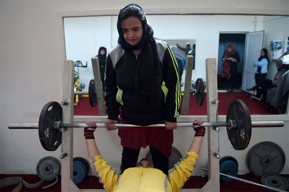 Afghan female powerlifters flex their muscles | Sports