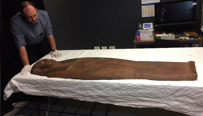 Mummy found in Egyptian coffin that was thought to be empty