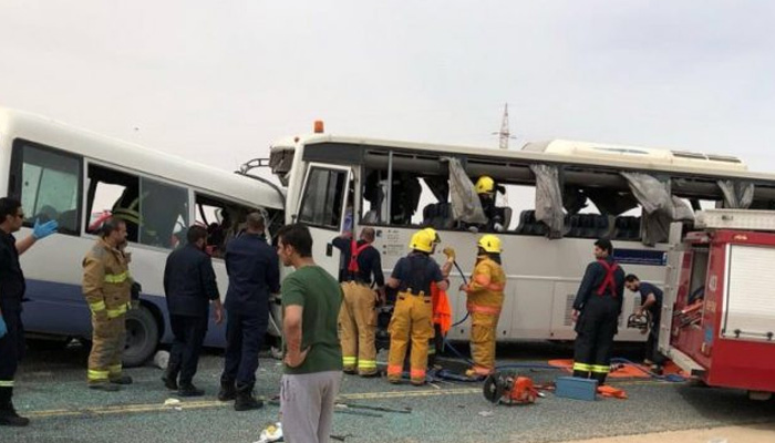 Bus collision kills 15 oil workers in Kuwait