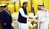 沙特国王萨勒曼总理阿巴斯讨论双边关系