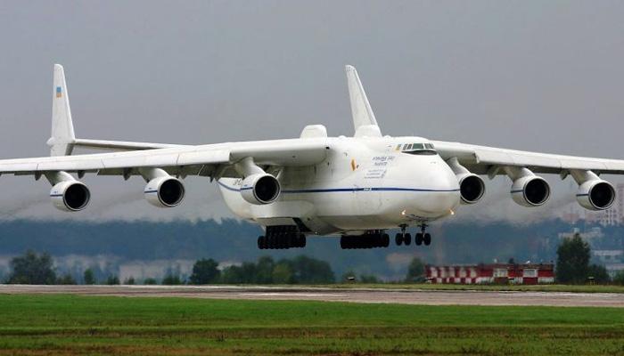 World's largest plane, Antonov An-225 Mriya, lands in