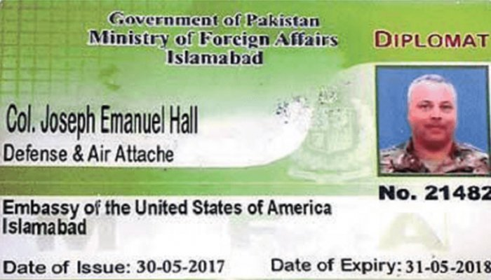 Motorcyclist's killing: Pakistan puts United States diplomat on blacklist