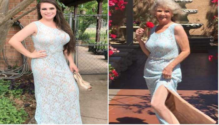 Old Woman Flees To Vegas In Granddaughters Prom Dress And Weds Her