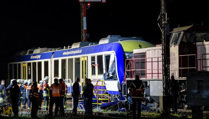 Two dead as trains collide in Germany