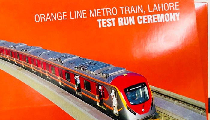 Pakistan tests first metro train in Lahore under CPEC