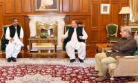 PM Abbasi,CM Shahbaz与Nawaz Sharif会面