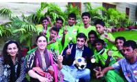 Bilawal fulfilled his promise with 2014 Street Child World Cup heroes