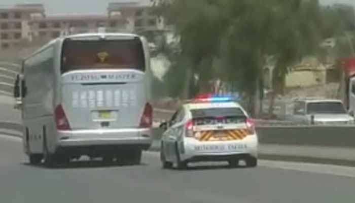 Video: Motorway Police opens fire at passenger bus near
