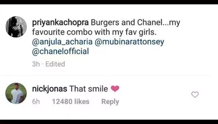 Nick Jonas gushes over Priyanka Chopras smile on Instagram