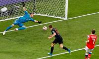 Russia 1 Croatia 1 at half-time in World Cup quarter-final
