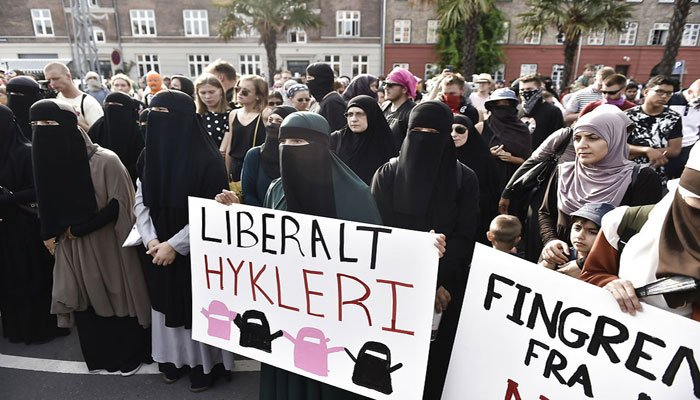 Protests expected as Denmark's veil ban begins