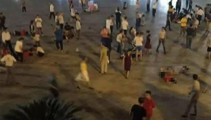 Vehicle  rams through public square in China killing several