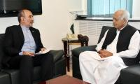 Pakistan committed to IP gas pipeline project, minister assures Iranian envoy