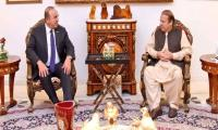 Turkish FM meets Nawaz Sharif, condoles demise of Kulsoom Nawaz