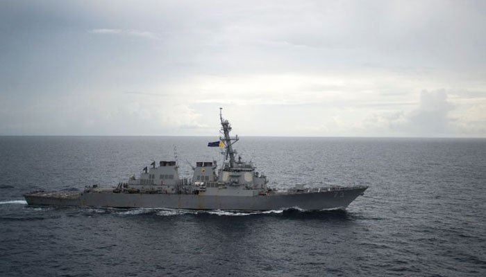American Warship Sails Near Disputed South China Sea Islands