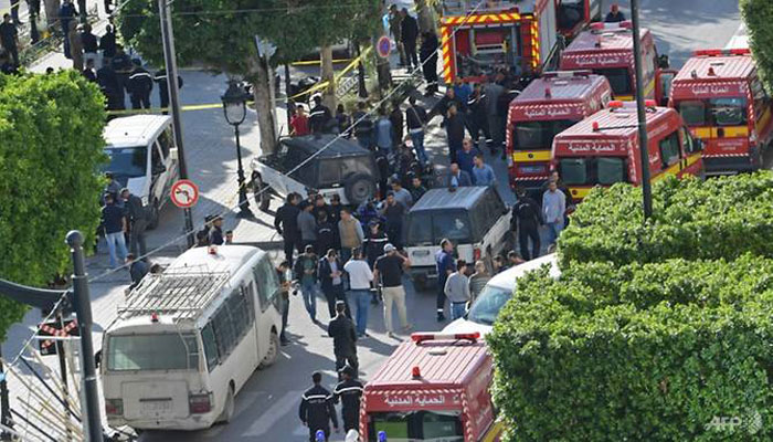 Female bomber targets Tunisian cops with