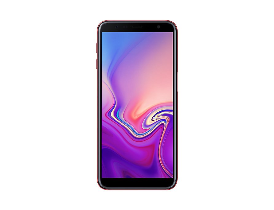 Samsung Galaxy J6 Plus front Red