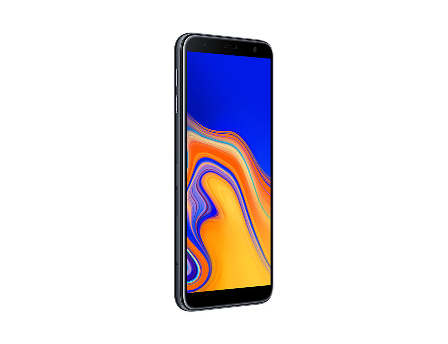 Samsung Galaxy J6 Plus perspective right Black