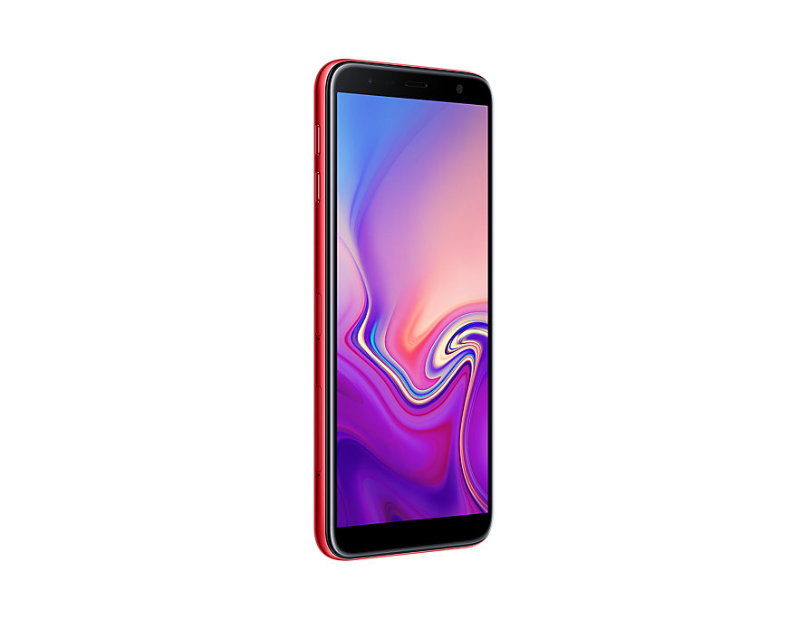 Samsung Galaxy J6 Plus perspective right Red