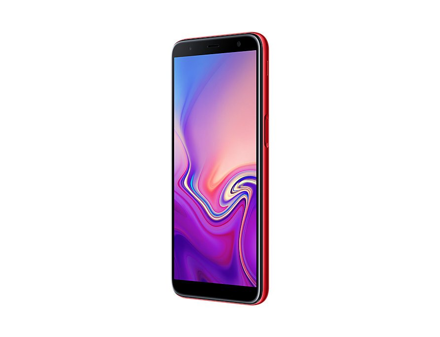 Samsung Galaxy J6 Plus perspective left Red