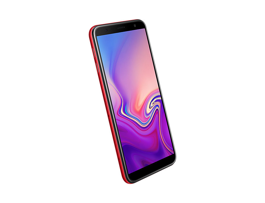 Samsung Galaxy J6 Plus front-side perspective Red