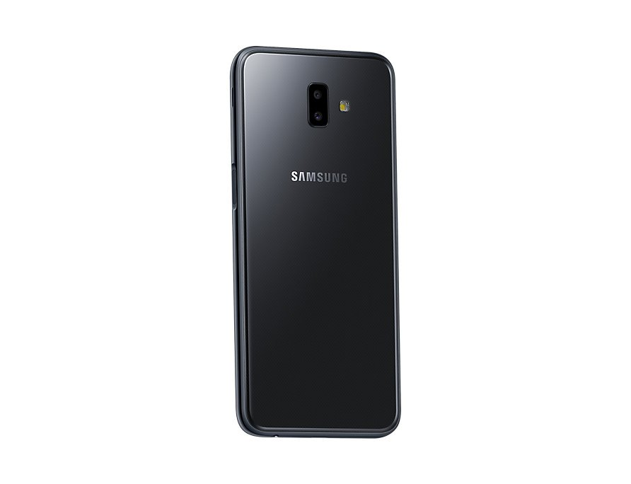 Samsung Galaxy J6 Plus back-side perspective Black