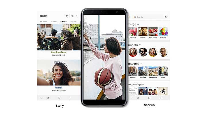 Build a story with your photos - Samsung Galaxy J6 Plus Feature