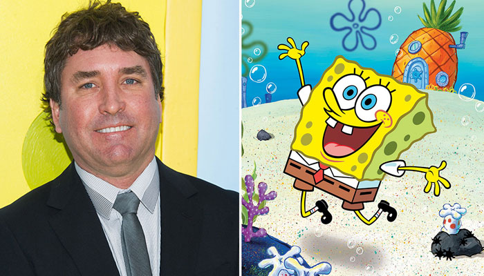 Stephen hillenburg and Spongebob together picture