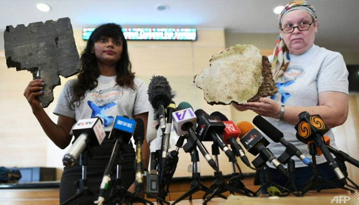 United States hunter shows debris said to be of missing flight MH370