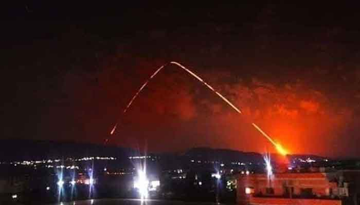 Syrian state TV claims military intercepted Israeli missiles above Damascus