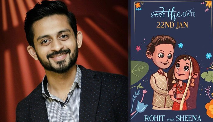 Pakistani Illustrator Makes Waves With Unconventional Wedding Card For Indian Actors