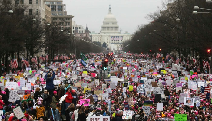 Women protest in hundreds of USA cities for third straight year