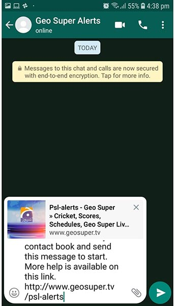 PSL 2019: Subscribe for Geo Super alerts on your WhatsApp | Sports