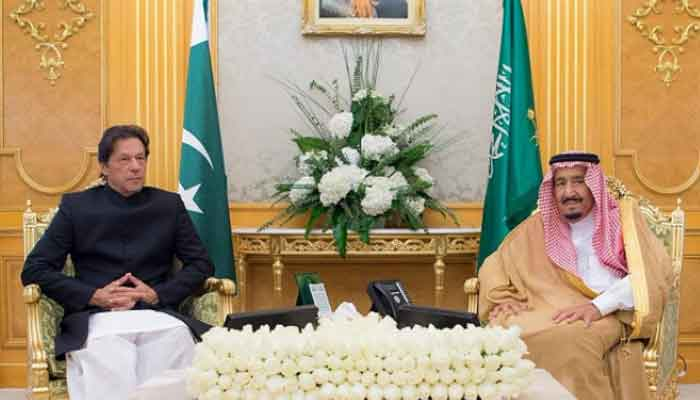 PM Khan, Saudi crown arrive at President House in Islamabad