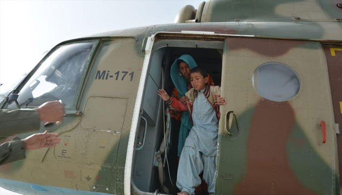 Security forces rescue 1500 families in Balochistan's flood