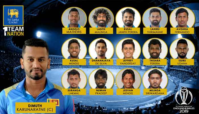 Sri Lanka announce World Cup 2019 squad