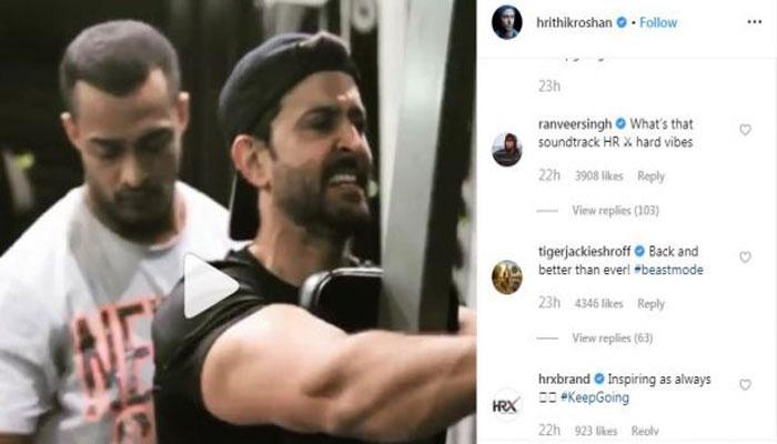 Hrithik Roshan shares new workout video, Tiger Shroff