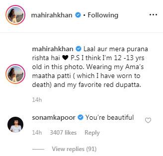 Sonam Kapoor in awe of Mahira Khan's beauty, showers immense love on