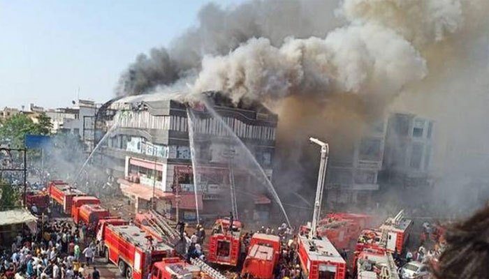 19 students killed in fire at commercial complex in Surat