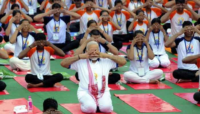 Yoga Day: Thousands of Indians celebrate the day