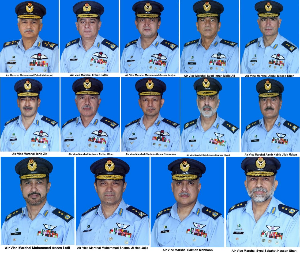 Promotions in Pakistan Air Force: 01 Air Officer as Air