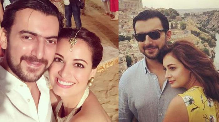 Image result for dia-mirza-and-husband-sahil-sangha